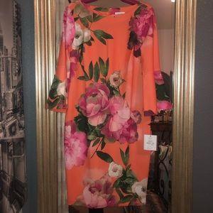 NWT Orange Calvin Klein Dress